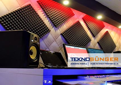 Akustik Piramit Sünger Stüdyo Ses Yalıtımı